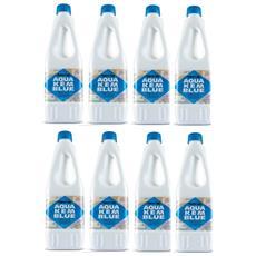 8 Bottiglie Disgregante Di Aqua Kem Thetford Da 1 Litro - Liquido Serbatoio Aque Nere Camper Wc
