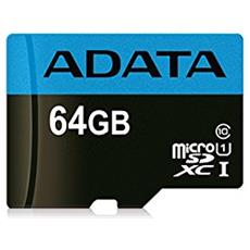 Scheda di Memoria Micro SDXC UHS-I Capacità 64 GB Classe 10 Velocità 85 MB / s