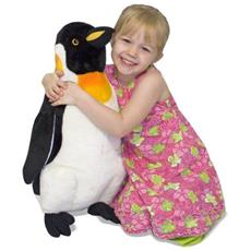 Melissa & Doug Penguin Pinguino Plastica, Poliestere Nero, Bianco