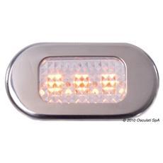 Luce cortesia inox 3 LED gialli