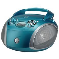 Radio Portatile con Lettore CD USB - Azzurro / Silver