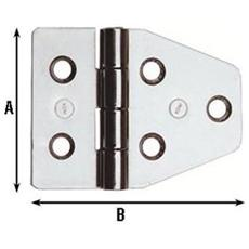 CERNIERA per MOBILI NAUTICI in acciao INOX 40X55MM (852 IN) 24 Pezzi