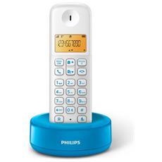 """D1301WA Telefono cordless con Display 1,6"""" Retroilluminazione - Bianco / Blu"""