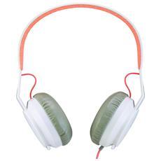 Cuffie con Microfono Cablato Colore Grigio e Bianco
