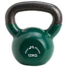 Pesi in ghisa 12 kg con maniglia kettlebell manubrio palestra fitness training