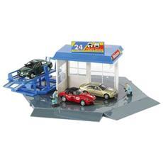 3316330 Set Garage 3 Auto+2 Personaggi 1/72 Modellino