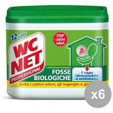 Set 6 Fosse Biologiche X 12 Pezzi Attrezzi Pulizie