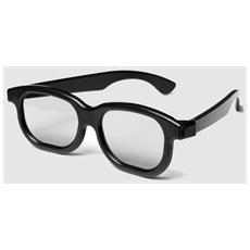 Occhiali 3d Polarizzati. Confezione Da 1 Paio. In Plastica Rigida. Per Vedere Film In 3d Polarizzato Su Tv Cinema Pc