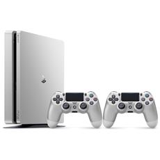 Console Playstation 4 500 Gb Slim Silver + 2 Controller Dualshock 4 V2 Silver Limited Bundle
