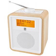 DAB CR 27 Personale Analogico e digitale Bianco, Legno radio