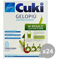 Set 24 Freezer Scatola 23x32 Medi Contenitori Per La Cucina
