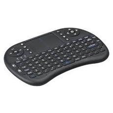 Mini Tastiera Wireless Ergonomica Con Mouse Touchpad Nera