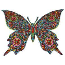 L101 Disegno 47x35 Cm Farfalla