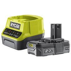 Battery Pack Ryobi 18v 2.0ah Oneplus Lithiumplus - 1 Caricabatterie Rapido 2.0ah Rc18120-120