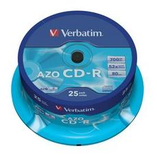 CD-R Super AZO 48x 700MB Spindle 25pz - Crystal