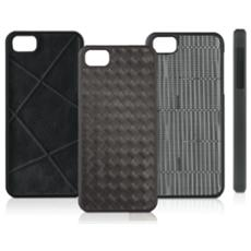 Woven, Custodia a scatto in similpelle per iPhone 5/5s - Grey