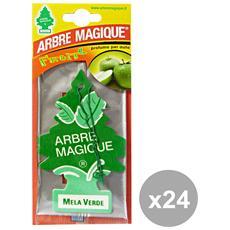 Set 24 Deodorante Mela Verde Accessori Auto E Moto