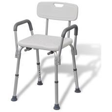 Sedia Da Doccia In Alluminio Bianca