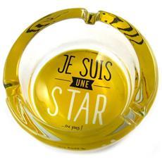citazioni portacenere di vetro giallo (io sono una stella o no!) - [ n5148]