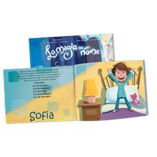 La Magia Del Mio Nome - Libro Personalizzato Per Bambine - Protagonista Bambina Castana - Contattaci per personalizzare