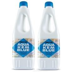 2 Bottiglie Disgregante Di Aqua Kem Thetford Da 1 Litro - Liquido Serbatoio Aque Nere Camper Wc