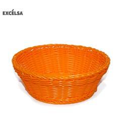 41234 Cestino Intreccio per Alimenti Diametro 20 cm Colore Arancione