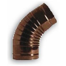 Gomito a 90° per Tubi Stufa Ø 8 cm colore Marrone in lamiera porcellanata
