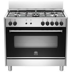 BERTAZZONI LA GERMANIA - Cucina a Gas AMS95C71DX 5 Fuochi a Gas Forno a Gas...