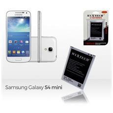 Batteria Compatibile Samsung Galaxy S4 Mini I9192 E Successivi Maxtech Li-ion Battery 1900mah T011