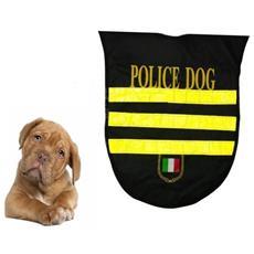 Pettorina Police Taglia M / medium Vestitino Vestito Cappottino Impermeabile Catarifrangente Per Cani Sport Dog Addestramento