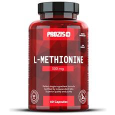 L-metionina 500mg 60 Capsule Migliora Umore Stimola Sistema Immunitario Naturale -