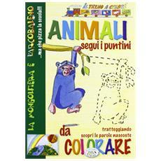 Animali da colorare. Treno a colori