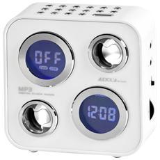 Ahb2021 Radiosveglia Usb Sd E Mp3 Aux Allarmi Display Lcd Multifunzione