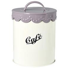 Barattolo Metallo Caffe Avorio Cm13 Contenitori Per Alimenti