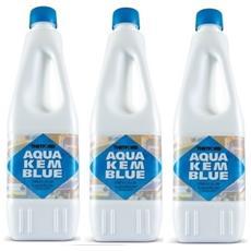 3 Bottiglie Disgregante Di Aqua Kem Thetford Da 1 Litro - Liquido Serbatoio Aque Nere Camper Wc
