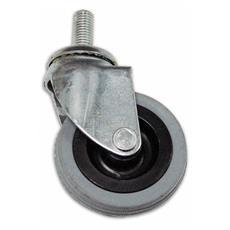 Ruota in Gomma con Perno Girevole DF7 Ø 40 mm Filetto 10x25 mm Portata 15 kg