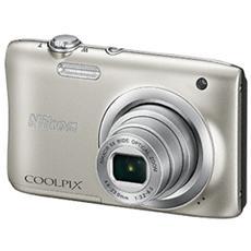 "Coolpix A100 Argento Sensore CCD 20.1Mpx Zoom ottico 5x Display 2.7"" Filmati HD"