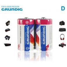 Alcaline Torce Formato D Lr20 1.5v 6000 Mah Confezione Da 2 Batterie
