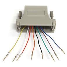 Adapter DB25M to RJ45F Grigio cavo di interfaccia e adattatore