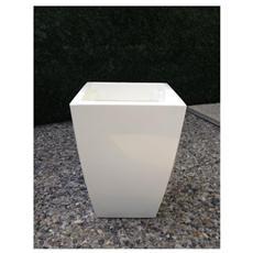 VASO per FIORI in resina Mod. HOME DESIGN QUADRO 33X33x50H cm Col. GHIACCIO