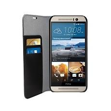 Eco leather book case - black -htc one m9