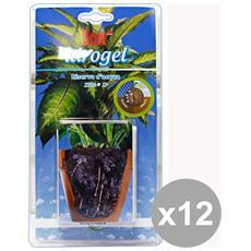 Set 12 Idrogel Riserva D'acqua X 4 Bustine Giardinaggio