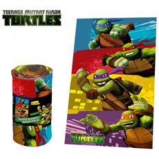 Tn16004 Coperta Plaid Calda E Morbida Teenage Ninja Turtles 100x150 Cm Plaid