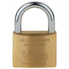 Set 6 Lucchetto Ottone Mm 70 Arco Normale - A 305 Ferramenta