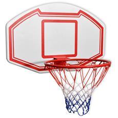 3 Pz Set Canestro Da Basket Da Parete 90x60 Cm