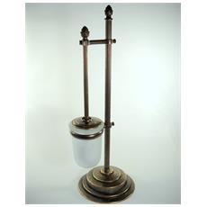 WC18 Portascopino per il bagno in ottone brunito ø 18cm
