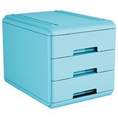 pz. 1 Mini cassettiera azzurro19P3PBL