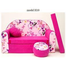 Divanetto Transformabile In Lettinorosa Pink Girl H10
