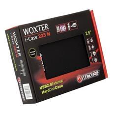 i-Case 225, Seriale ATA II, 75 x 12 x 130 mm, USB 2.0, Nero, Potenza, Status, Alluminio