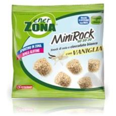 Minirock Vaniglia Snack Di Soia E Cioccolato Bianco. Senza Glutine.